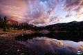 lake, irwin, colorado, clouds, sunrise, rain, bluff