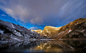 lakes, snow, mountains, isabelle, indian peaks, reflections