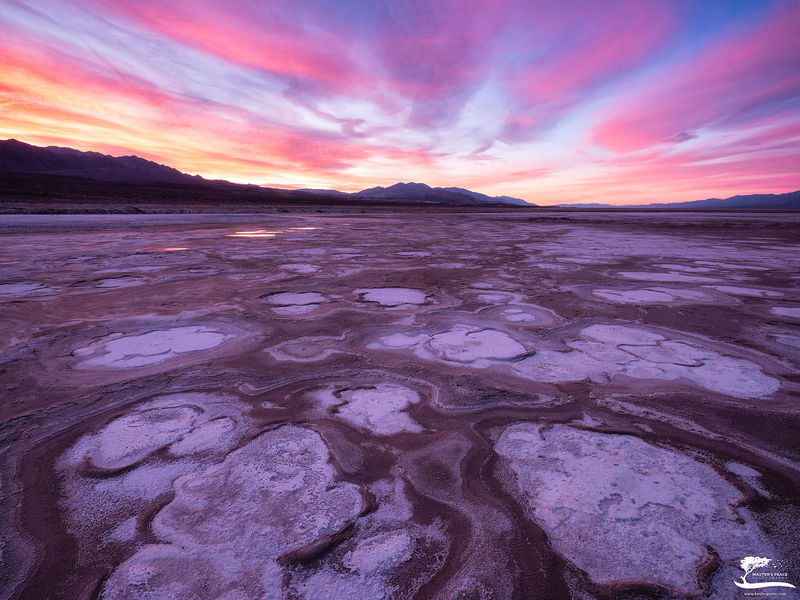 death, valley, morning, sunrise, national, park,