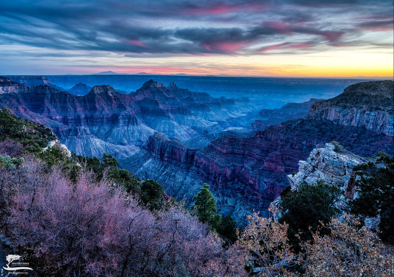 sunset, grand, canyon, national, park, sun, north, rim, arizona