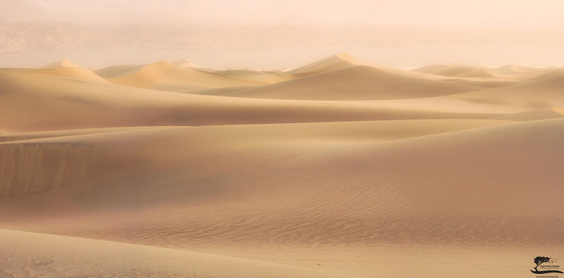 death, valley, california, national, park, storm, sand, amazing, footprints, pano