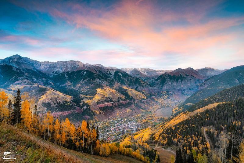 telluride, colorado, jeep, mountains, leaves, fall, season,