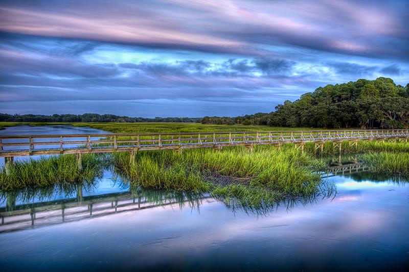 sunset,water,Coastal,Marsh,colors,boardwalk, photo