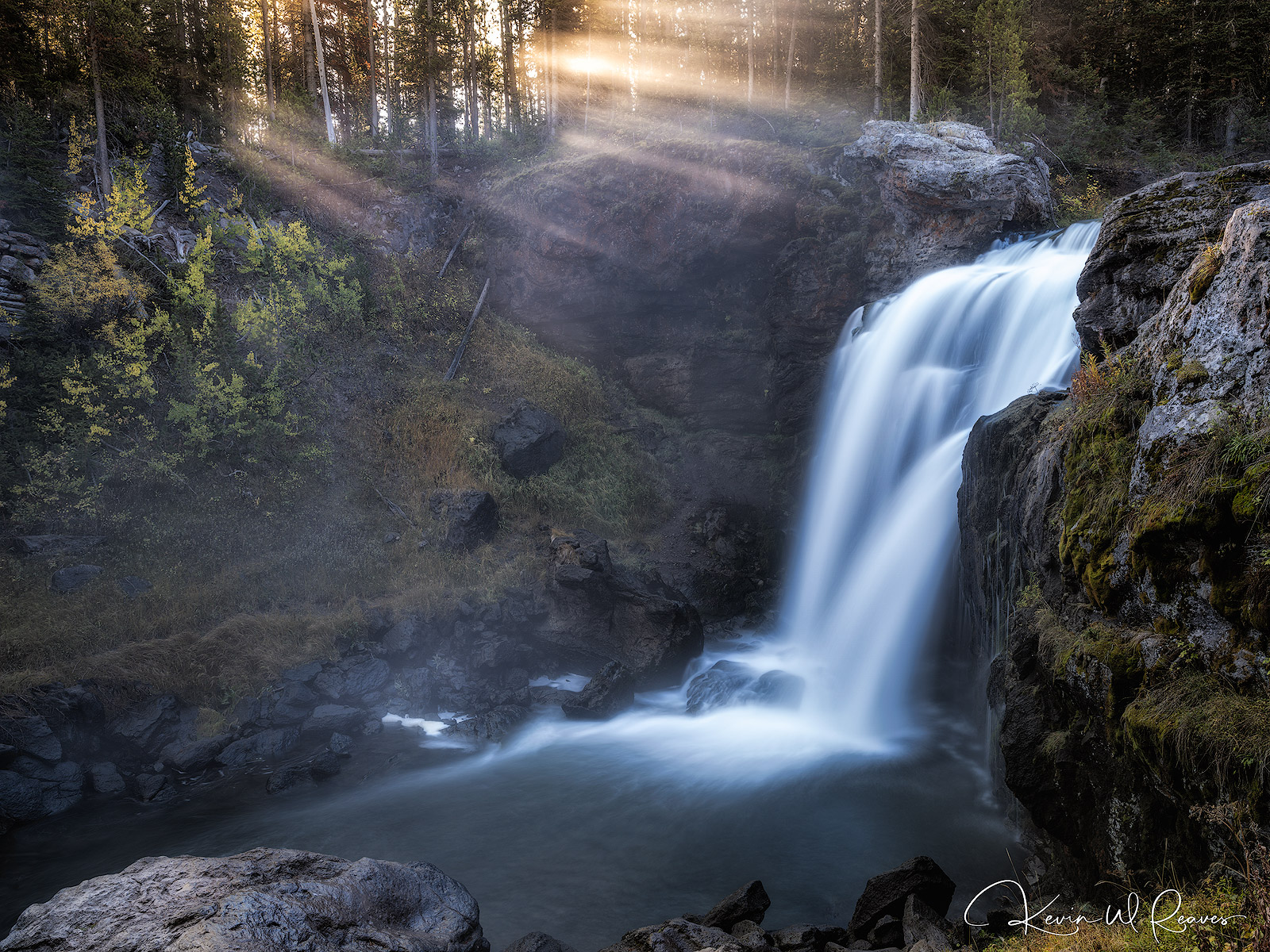 Moose Falls is a nice little spot just outside of the Tetons with a short walk from the parking area.  I have photographed here...