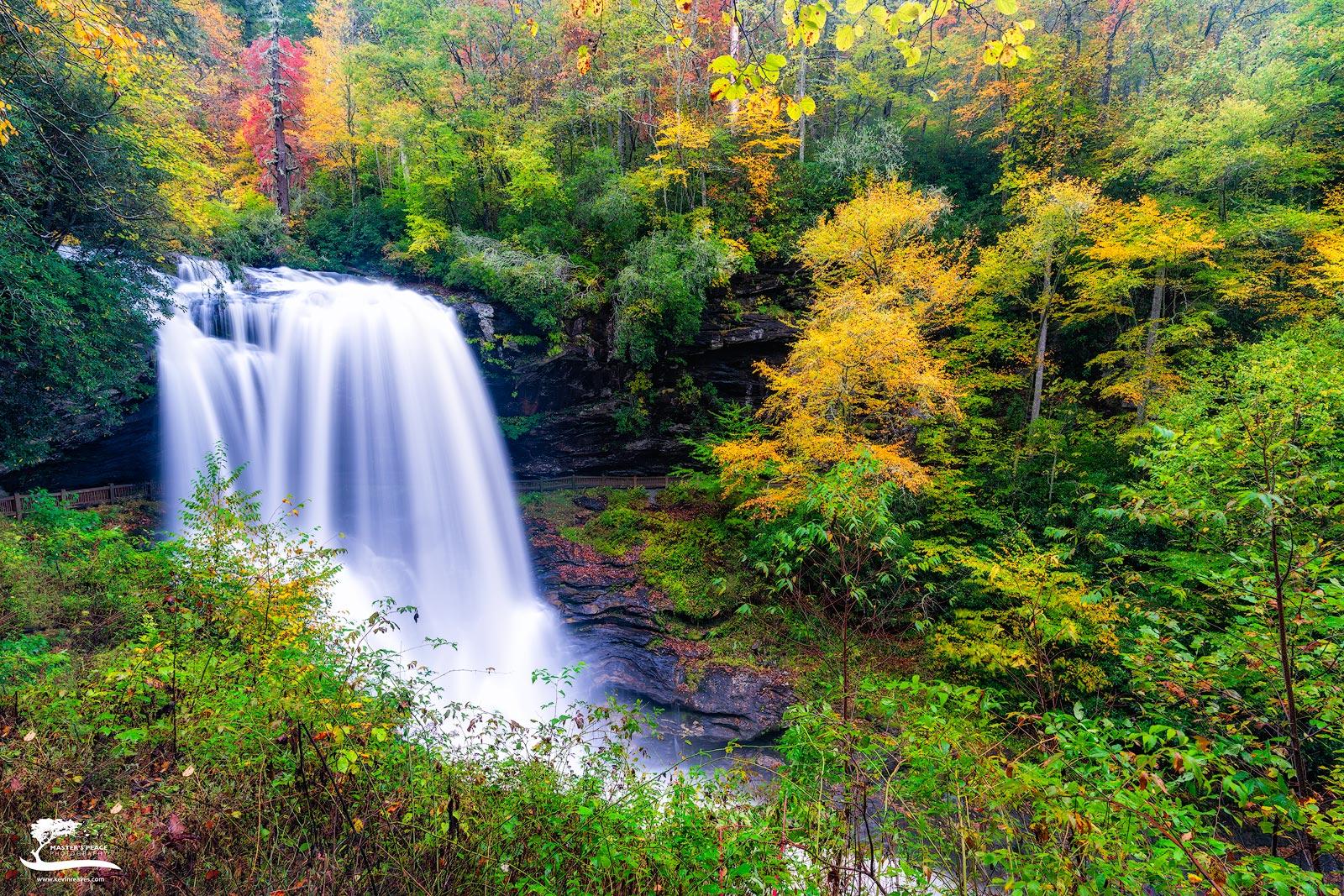 early, fall, colors, dry, falls, highlands, north, Carolina, photo