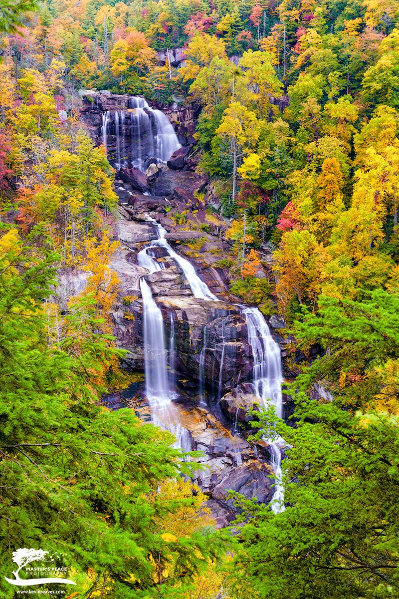 morning, light, whitewater, falls, north, south, Carolina, photo