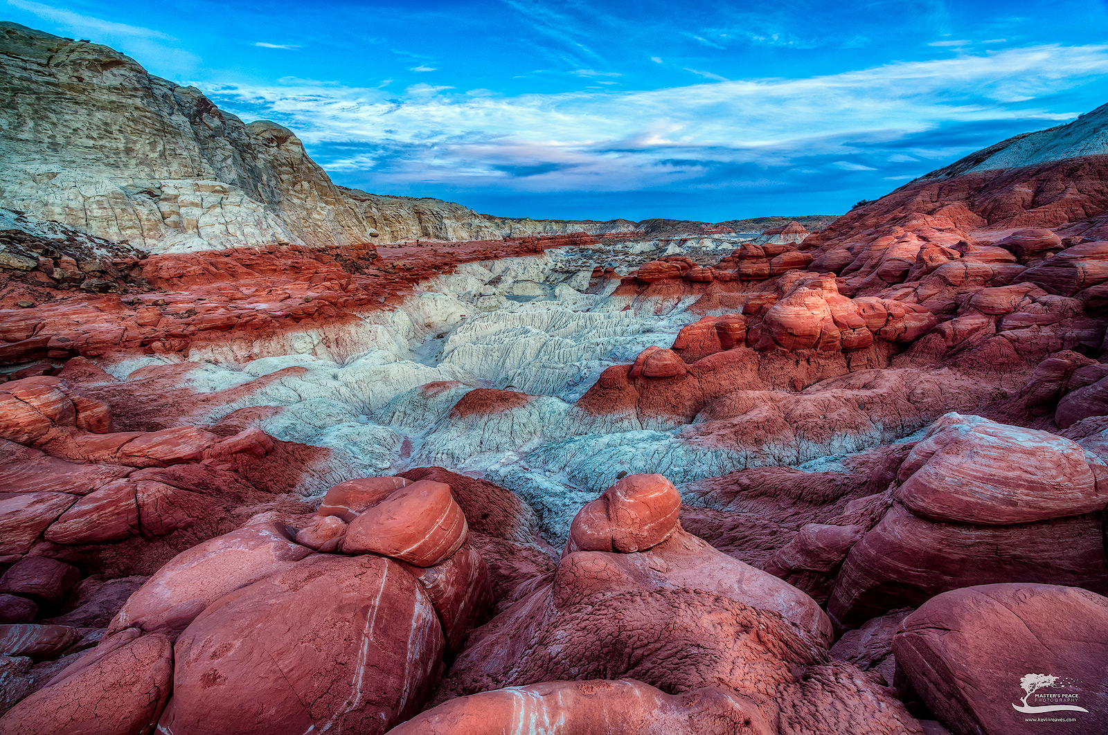 sunset, top, red, boulders, toadstools, south, west, Utah , photo