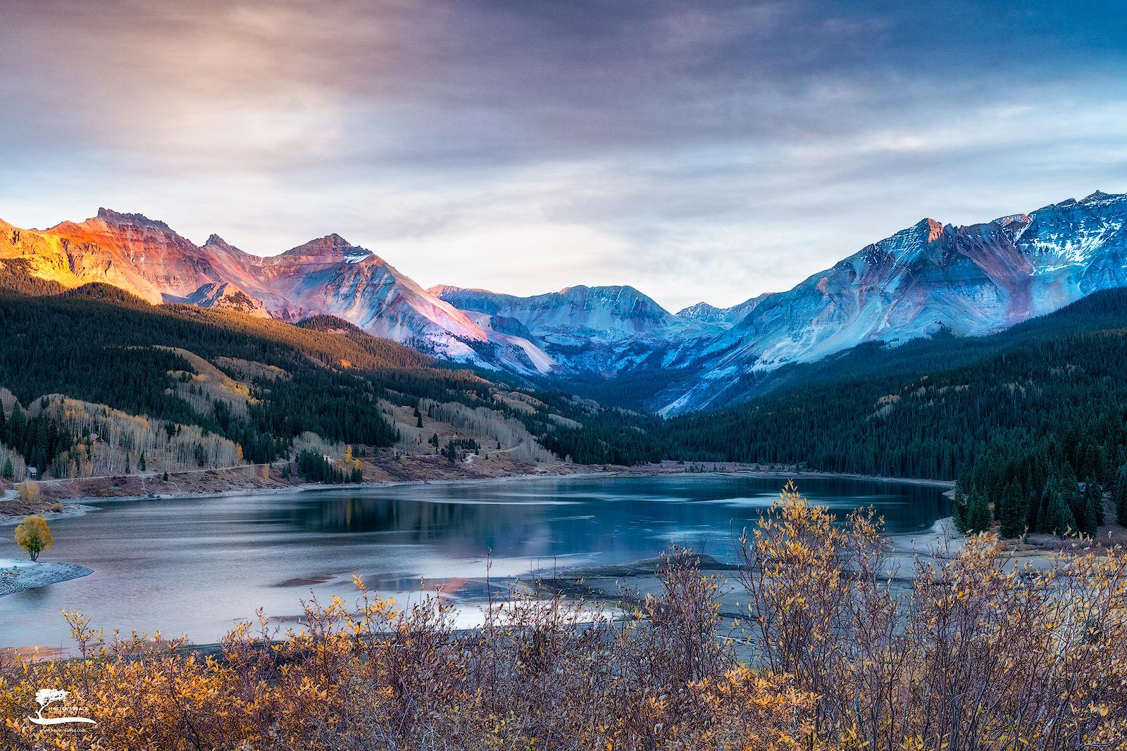 colorado, mountains, sunset, light, photo