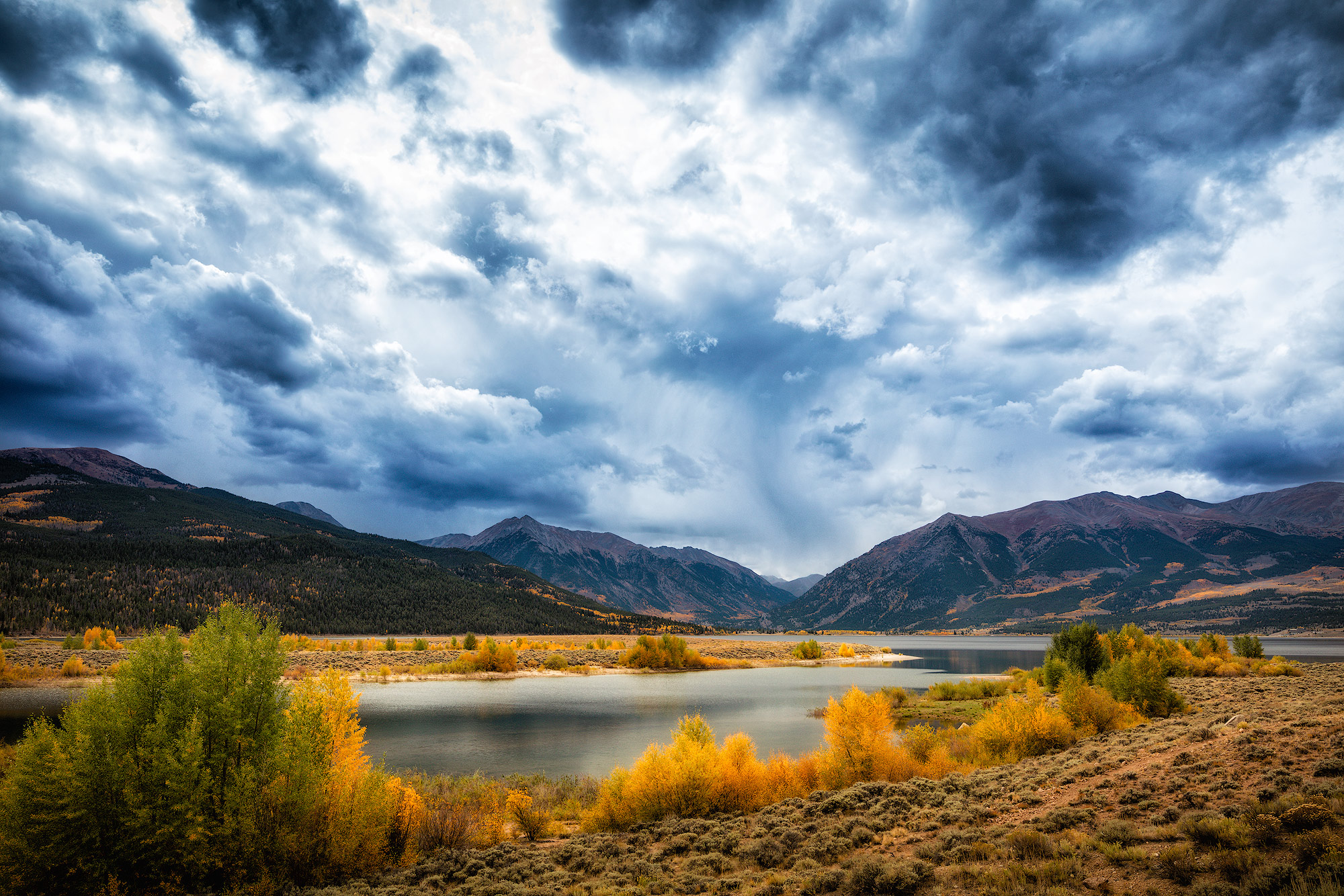 colorado, twin, lakes, light, storm, shelter, dirt, roads, rain, winds, photo